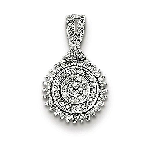 En argent sterling Pendentif diamant