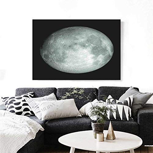 Galaxy Wall Paintings Moon Graphic Image Trippy Rock Detailed Surface Planet Astronomy Outer Space Print Print On Canvas for Wall Decor 32