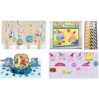 Amazon.com: Peppa Pig Kit de decoración para fiesta de ...