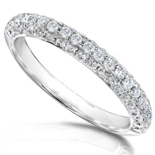 Diamond Band 1/2 carat (ctw) in 14K White Gold_8.0