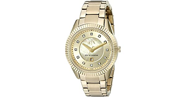 Amazon.com: Armani Exchange Womens AX5431 Gold Watch: Armani Exchange: Watches