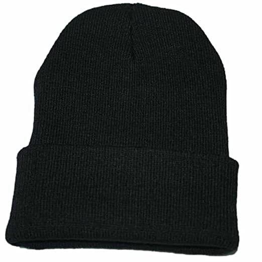 Alixyz Clearance Winter Beanie Skull Cap Warm Knit Cotton Hat for Men and  Women (Black 5c1144ea461