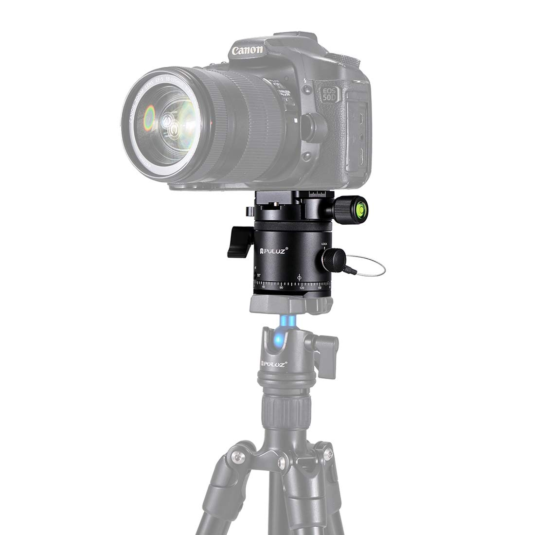CAOMING Aluminum Alloy Panoramic 360 Degree Indexing Rotator Ball Head with Quick Release Plate for Camera Tripod Head Durable by CAOMING