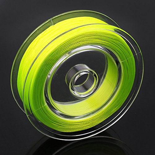 Sougayilang Braided Fly Fishing Line Bass Trout Backing Line Test 20lb 30lb 100yards (Yellow, 20lbs) (Fly Line Backing Yellow)