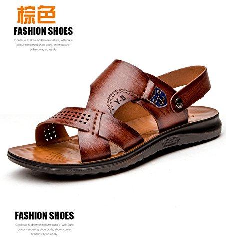 Sommer Mode Das neue Faser Sandalen Männer Strand Schuh Atmungsaktiv Freizeit Männer Sandalen ,braun,US=10,UK=9.5,EU=44,CN=46