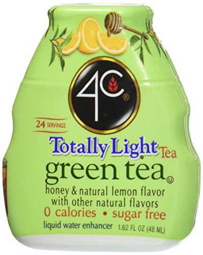 4c Totally Light Green Tea Liquid Water Enhancer 1.62 Fl Oz (4 Count) (Honey Lemon Water)