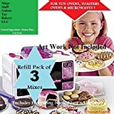 easy bake cake mix - Mojo's Easy Bake Oven Mixes Refill / 3 Packs of Brownie Mix & Cookies