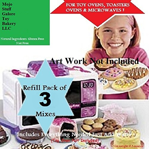 Mojo's Easy Bake Oven Mixes Refill / 3 Packs of Brownie Mix & Cookies