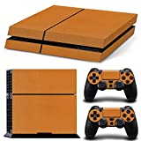 Cheap Gam3Gear Vinyl Sticker Pattern Decals Skin for PS4 Console & Controller- Leather Orange