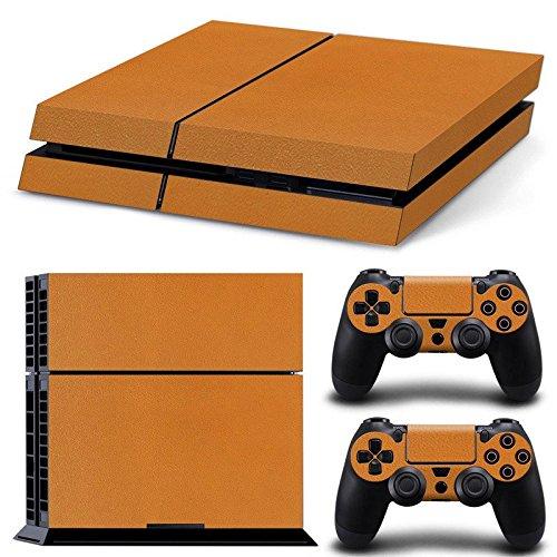 Cheap Gam3Gear Vinyl Sticker Pattern Decals Skin for PS4 Console & Controller- Leather Orange