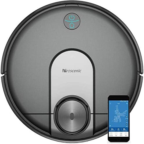 Proscenic M7 Robot Vacuum Cleaner, Laser Navigation, App Alexa, 2600 Pa Powerful Suction, Carpet Boost, Electronically-Controlled Water Tank for Carpet Hard Floors, Blue