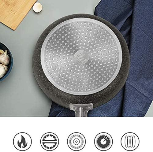 ZCM Poêles à Frire Poêle Maifan Couleur Pierre Poêle Antiadhésive Poêle à Frire Plate Steak Frit Omelette Pot, 24cm / 26cm / 28cm / 30cm(Size:28cm)