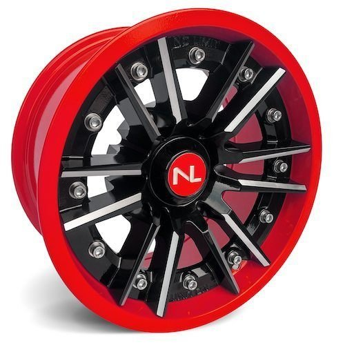 Storm 2 Piece Modular Wheel 14 x 7 Polaris (156 mm) Polaris Indy Red by No Limit (Image #1)