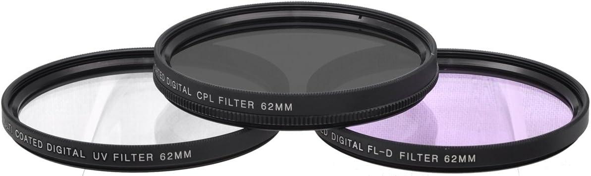 Xit XT62FLK 62mm 3-Piece Multicoated HD Digital Lens Filter Set