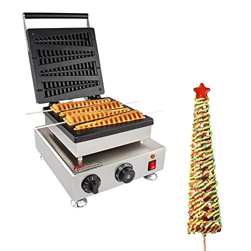 ALDKitchen Christmas Lolly Waffle Stick Maker Stainless Steel Professional Lolly Waffle Stick Machine 110V 1500W FOUR BIG