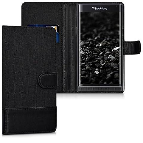 kwmobile Wallet case canvas cover for Blackberry Priv - Flip