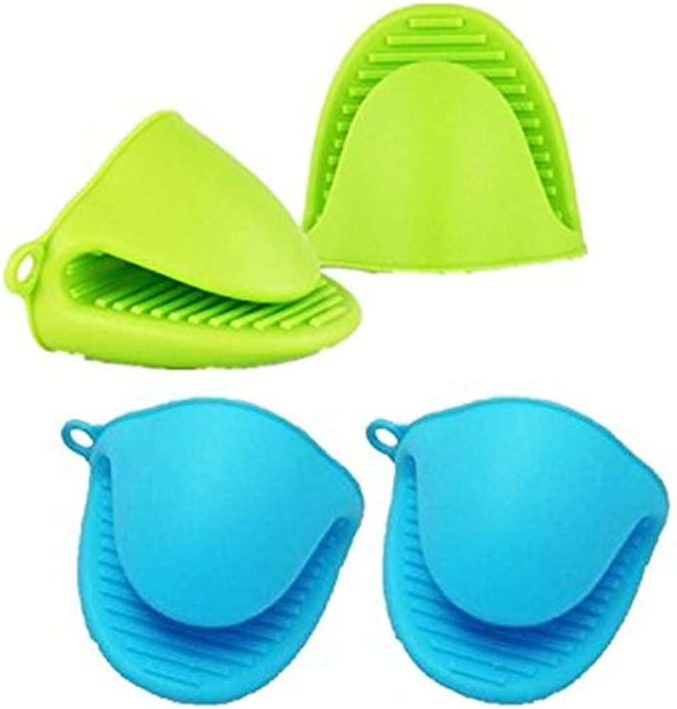 Oven Gloves Mini Potholders Oven Mitts Blue, Heat Resistant Microwave Orange, For Kitchen Cooking 2 / 3Pairs