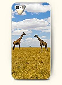 OOFIT Phone Case design with Two Giraffes Watching Each Other for Apple iPhone 5 5s
