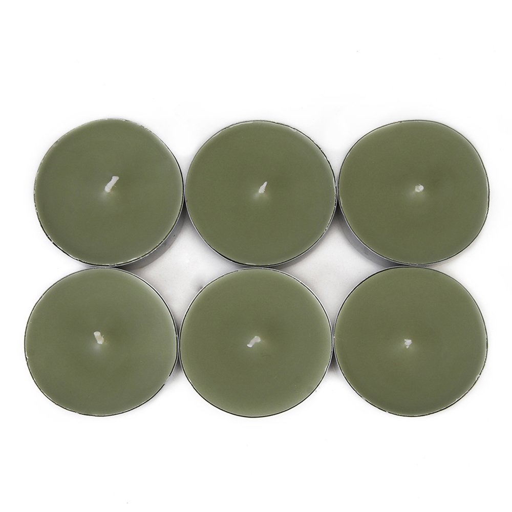 Zest Candle CTM-010_12 144-Piece Mega Oversized Tealight Candle, Sage Green