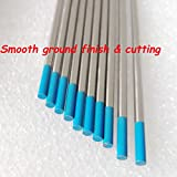 On Sale 10Pcs Tungsten Electrode 3 32 7 2.4mmx175mm Blue TIG Rod WL20 (2% Lanthanated) For AC DC Welding