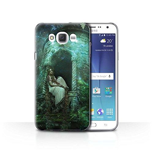 Oficiales de Elena Dudina teléfono Celular/Carcasa para Samsung Galaxy J7(2016)/Golden diseño de Pelo/Cuento de Hadas...