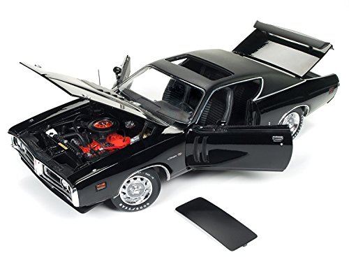 Ltd Sunroof (1971 Dodge Charger R/T TX9 Black on Black Hardtop with Sunroof MCACN Limited Edition to 1002pc 1/18 Diecast Model Car by Autoworld AMM1107)