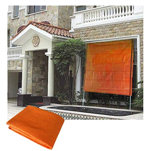 Sun Shade Sail with Retractable Steel Tube Bracket, Rectangle Sand UV Block Shade Sail Shade Cloth for Window Glass Roof Courtyard Flower and Shadow Shade Sunblock Shade Net