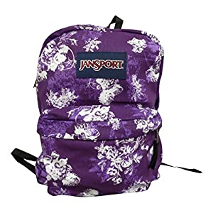 JanSport Classic SuperBreak Backpack, (Vivid Purple Floral Toile)