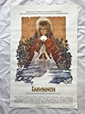 ''LABYRINTH'' 1986 ORIGINAL MOVIE POSTER FIRST ISSUE 27X41 DAVID BOWIE CONNELLY