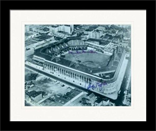 Ebbets Field autographed 11x14 Photo with Duke Snider Andy Pafko Framed & Matted - Autographed MLB Photos