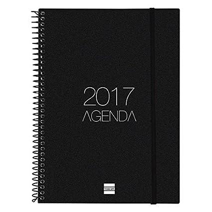 Finocam 742766017 - Agenda 2017, de espiral, semana vista, goma elástica