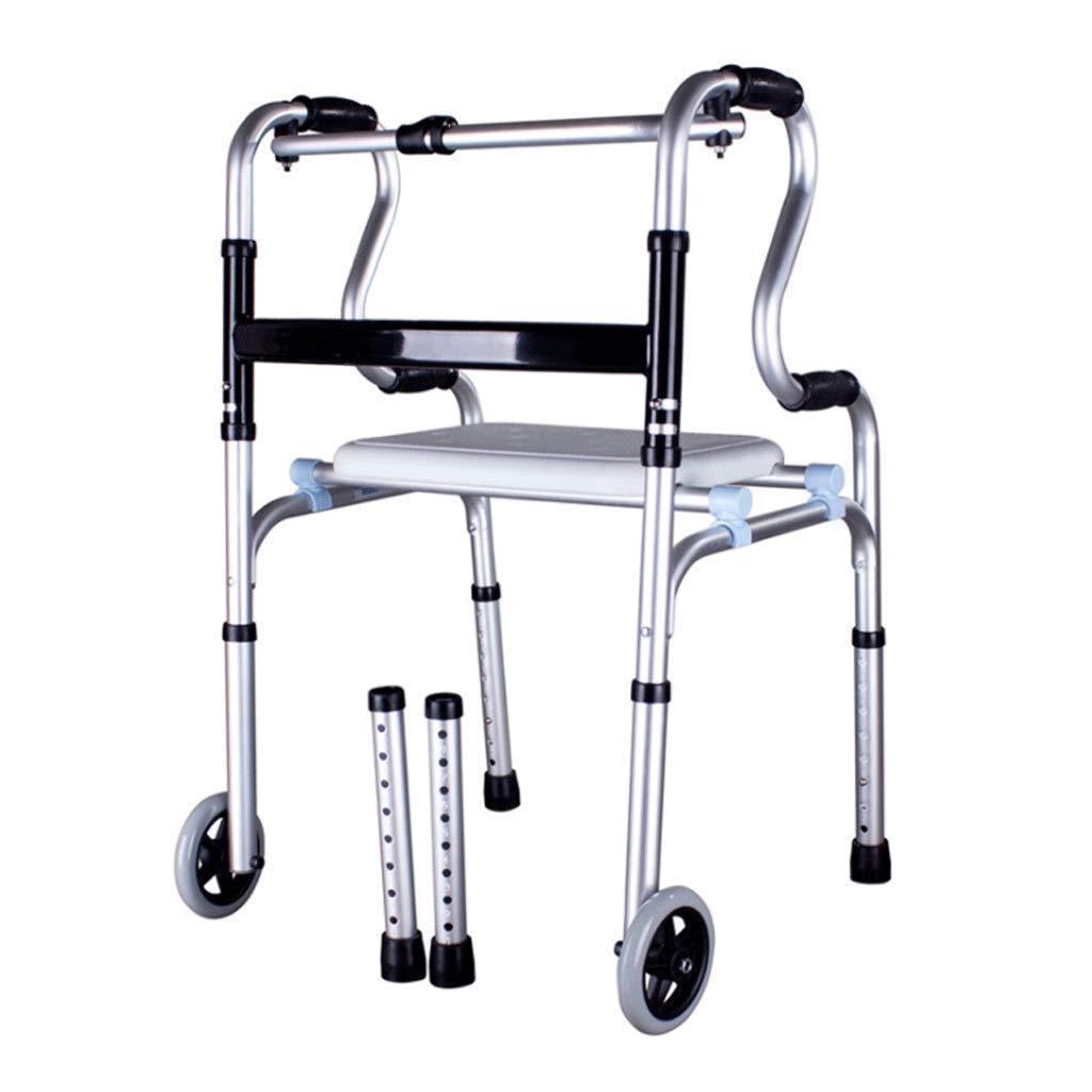 ウォーキングサポートウォーカー、高齢者障害のバスルーム折りたたみウォーキングフレームWheellessチューブシャワーボード   B07L5KS4NP