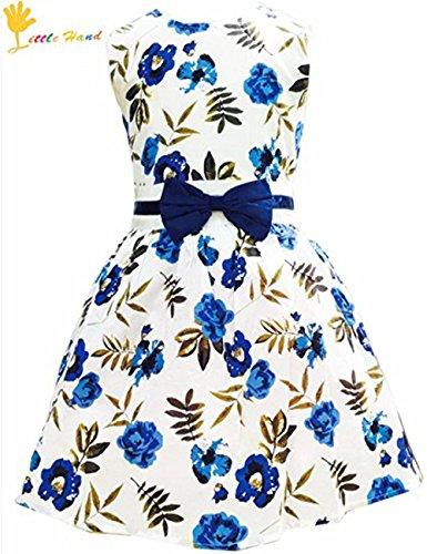 Little Girls Dress, Sleeveless Cotton Country Flower Dress, Summer Casual Dress for Toddler Girls