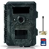 Bestok Hunting Camera 12MP HD 120° 2.4'' LCD Trail Cam with 65 ft/20m Night Vision IP65 Waterproof Protected Game Camera with SD Card Viewer