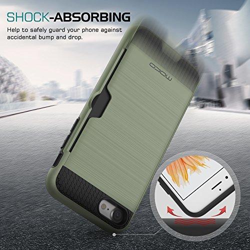 MoKo Hülle für iPhone 8 / 7 - [Ultra Slim Serie] Superleicht Flexible TPU Handy Schutzhülle Schale Bumper Phone Case für Apple iPhone 8 2017 / iPhone 7 Smartphone, Armee Grün