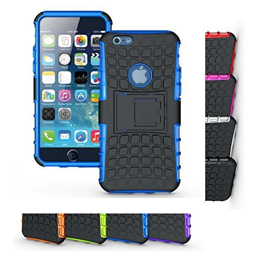 iPhone 6s Case, HLCT Rugged Shock Proof Dual-Layer Case with Built-In Kickstand (Philips Media Wallet)
