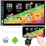 Double Din Car Stereo with Backup Camera, Hieha V2.0 LCD Touch