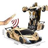 JIAAE Remote Control Car Gesture Sensing Transformers 1:12 Ratio Simulation Racing Car Model Great Gift for Boys and Girls,Gold