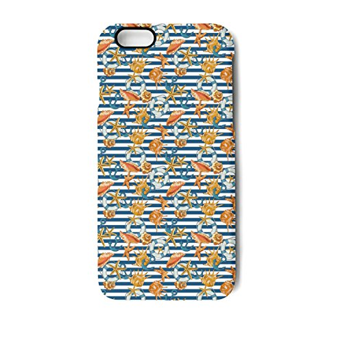 iPhone 6 Case iPhone 6s Case Sailor Anchor With Sea Shells Shock Absorption Technology Bumper Soft TPU Cover Case For iPhone 6/iPhone 6s