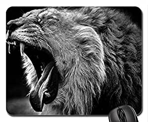 yawn lion Mouse Pad, Mousepad (Cats Mouse Pad)