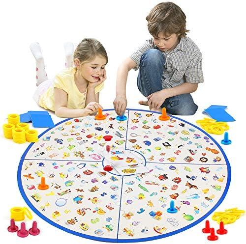 [해외]VATOS 보드 게임 작은 탐정 카드 게임 테이블 게임 어린이 가족 파티 매칭 게임 어린이 어린이 교육용 장난감 3 4 5 6 7세 소년 및 소녀 선물 / VATOS Board Game, Little Detective Card Game Memory Game Tabletop Game for Kids Families Party, ...