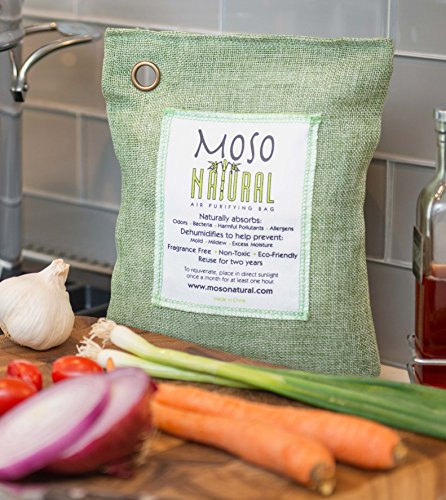 Moso Natural Air Purifying Bag 500-Grams. Natural Color. Natural Odor Eliminator. Fragrance Free, Chemical Free, Odor Absorber. Captures and Eliminates Odors. by Moso Natural (Image #8)