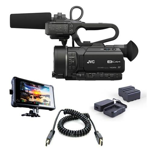 JVC GY-LS300 4KCAM Handheld S35mm Camcorder  - Bundle with A