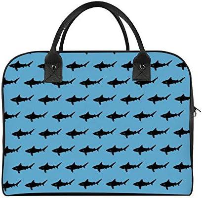 ボストンバッグ キャリーオン 大容量 トラベルバック 旅行 鮫 サメ 肩掛け 手提げ ガーメントバッグ フライトバッグ スポーツ ジム ショルダー付き 旅行バッグ ジムバッグ 機内持ち込み