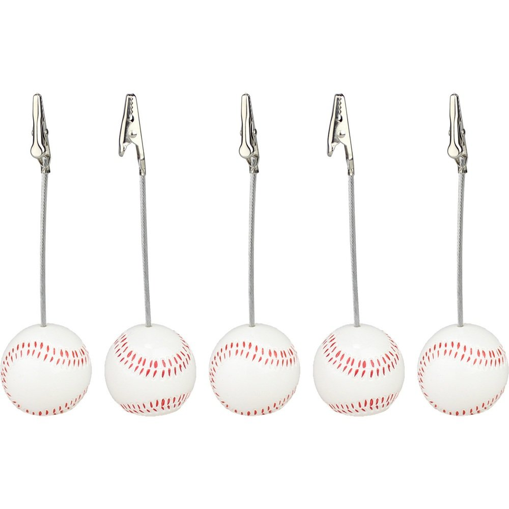Lot 5pcs Solid Resin Baseball Wire Recipe&desk&card¬e&memo&photo Clip/holder or Paper Weight,sport Sereis