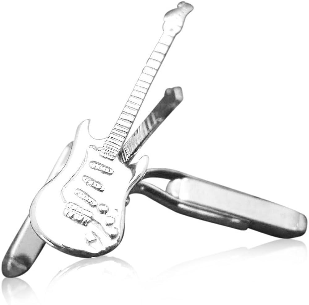 Anillo de los hombres de plata de ley de la guitarra eléctrica ...