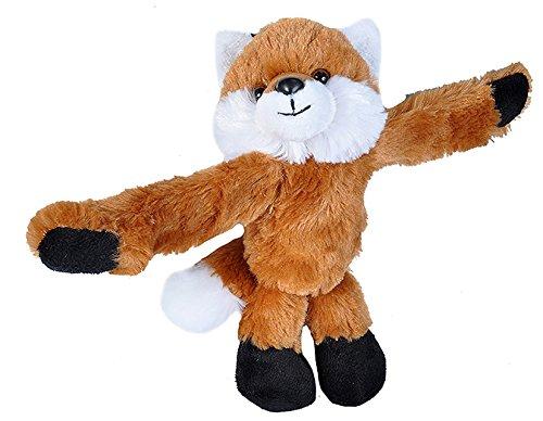 Wild Republic Huggers Red Fox Plush, Slap Bracelet, Stuffed Animal, Kids Toys, 8 inches