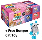 Friskies Shreds Cat Food Variety Pack 32-5.5 oz. Cans (2 Box + Free Toy)
