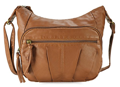 Scarleton Trendy Tri Pocket Crossbody Bag H1969