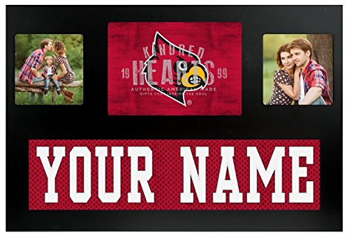 Louisville Cardinals NCAA Custom Jersey Nameplate and Logo Picture Frame